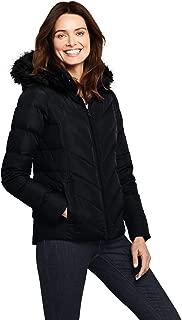 Lands' End Women's Faux Fur Hooded Down Winter Jacket