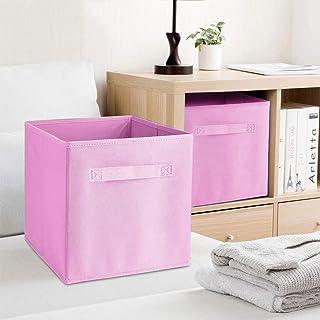 Lot de 6 boîtes de rangement pliables, tiroir pliable en tissu, boîtes de rangement pliables, carrées, pour armoire, jouet...