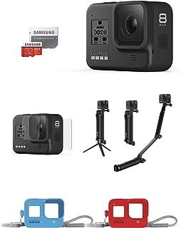 【GoPro公式限定】GoPro HERO8 Black + 3-Way + プロテクトスクリーン + スリーブ ランヤード 2セット + 認定SDカード 【国内正規品】