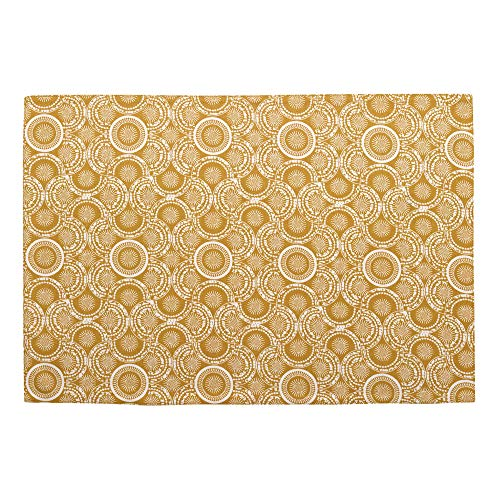 Winkler - Set de table rectangle Eline – 33x48 cm – Tissu 100% coton déperlant - Facile à nettoyer – Motif imprimé coloré