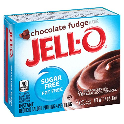 Jell-O Sugar-Free Chocolate Fudge Instant Pudding Mix 1.4 Ounce Box (Pack of 6)