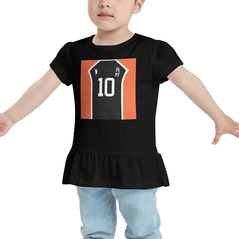 GLYLDFI Haikyuu Hinata Shoyo Karasuno High School Babys Girl's Cotton T-Shirt T Shirts Dresses