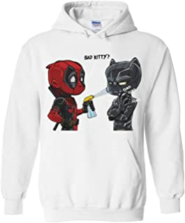 CosplayLife Deadpool Bad Kitty Finding Francis Funny Kangaroo Pocket Hoodie Unisex
