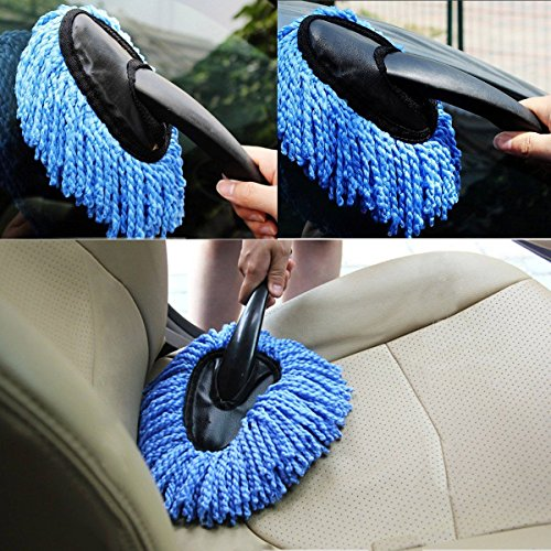 OKOKMALL US--Car Wash Cleaning Brush Duster Dust Wax Mop Microfiber Telescoping Dusting Tool