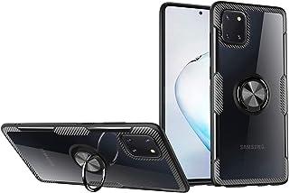 حافظة هاتف ساسو لاين لهاتف سامسونج جالكسي نوت 10 لايت مع حامل بحلقة صلبة شفافة متوافق مع جالكسي ايه 81/ جالكسي M60S N770F ...