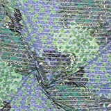 kawenSTOFFE Popelinestoff blau grün Paisley Blumen Stretch