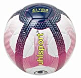 UHLSPORT - Elysia Ballon Replica - Ballon Football - Design Ligue 1 - Cousu Main - Blanc/Bleu Marine/Fuchsia,...