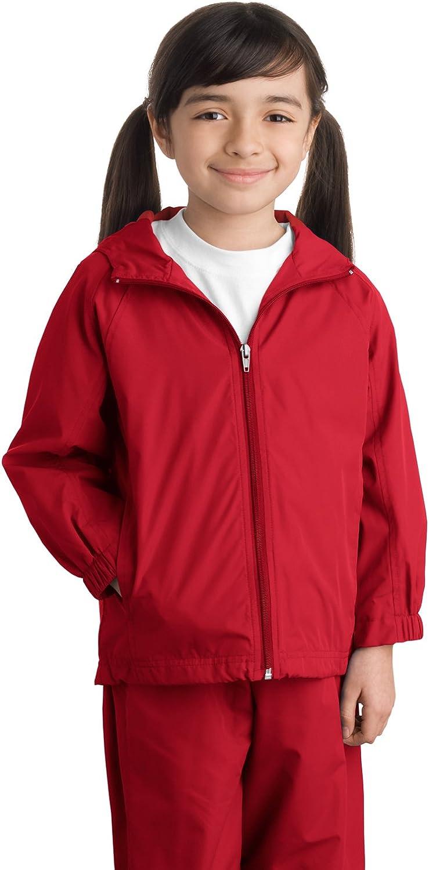 Sport-Tek Youth Stylish Sporty Hooded Raglan Sleeve Jacket, True Navy
