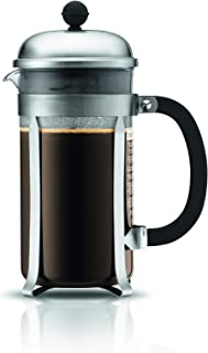 BODUM 1928-57 Chambord 8-Cup Coffee Maker, 34-Ounce, Matte Chrome, 34 Oz,