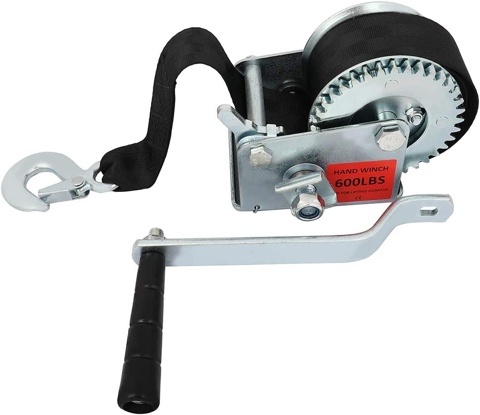 SCITOO Hand Crank Strap Manufacturer direct delivery Max 87% OFF Gear Winch Winches 600 with Bla lbs