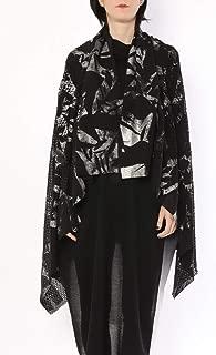 ミハイル ギニス アオヤマ MICHAIL GKINIS AOYAMA 着る ART ストール [登録意匠] 日本製 ハイテク ニット MADE IN TOKYO ギリシャ 大判 コットン Cotton BLACK SILVER ブラック シルバー