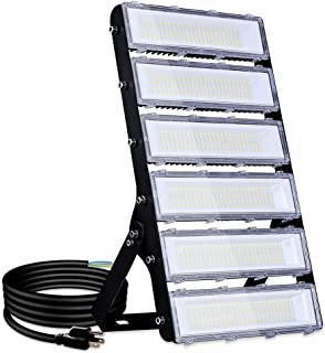 300W LED Flood Light Outdoor, 27000lm 6000K Super Bright Yard Security Lights IP66 Waterproof Outdoor Work Lights Daylight White,OSRAM LED Chips, Adjustable Heads, Great for Garden,Street, Parking Lot