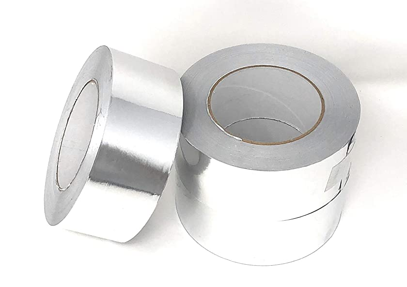 APT, Aluminum Foil Tape, (2'' x 55 Yds (165ft)), 3.4 Mil,HVAC Heavy Duty Dust Tape for Sealing, Insulation, Repair and More Application. (3 Rolls)