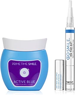 GO SMILE Professional Teeth Whitening Pen (0.04 fl oz) with Blue Light Accelerator, Clinically proven fast results, Award Winning & Dentist Recommended, Professional Strength On-The-Go Whitening
