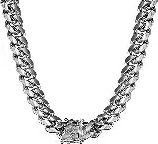 Best stainless steel cuban choker Reviews
