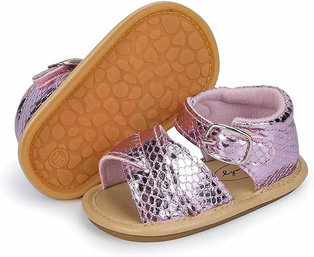 KIDSUN Infant Baby Girl Limited price Sandal Sole Toddler Clo Rubber Anti-Slip mart