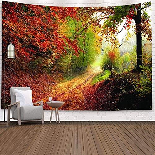 Hermoso bosque natural tapiz grande estética colgante de pared hippie tapiz bohemio mandala tapiz de arte de pared A15 130x150cm