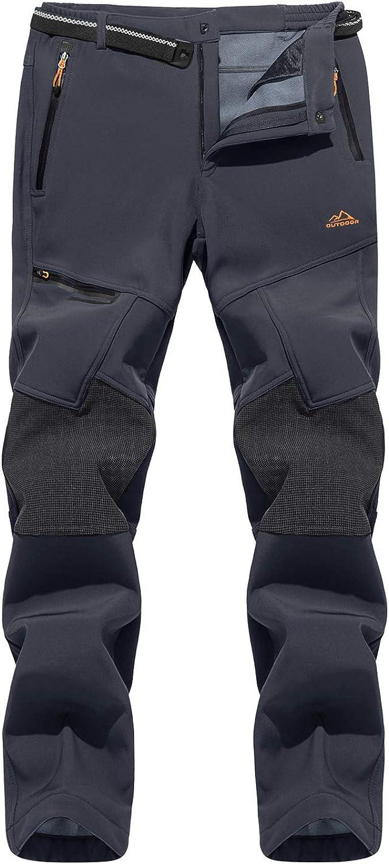 MAGCOMSEN Pantalon dhiver pour homme avec doublure en polaire imperm/éable et poches zipp/ées