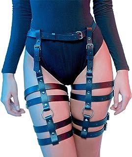 Nonebrand Women Leg Harness Caged Thigh Holster Garters Harajuku Adjustable Waist Leg Cincher Cage Belt (LP-005)