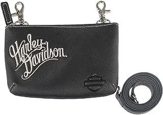 Harley-Davidson Women's Embroidered H-D Script Hip Bag w/Strap, ZWL3887-CRMBLK