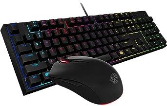 Cooler Master SGB-3040-KKMF1-US MasterKeys Lite L Gaming Keyboard & Mouse Combo, 6 Zoned RGB LED Backlit, On The Fly (Renewed)