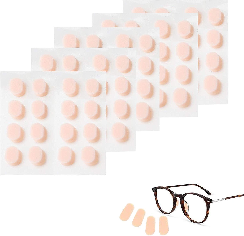 40 Pares Almohadillas de Nariz, Almohadillas de Nariz Adhesiva de Espuma Suave Almohadillas de Nariz Antideslizantes Finas Almohadillas de nariz Finas para Gafas Gafas de Sol (Color de piel)
