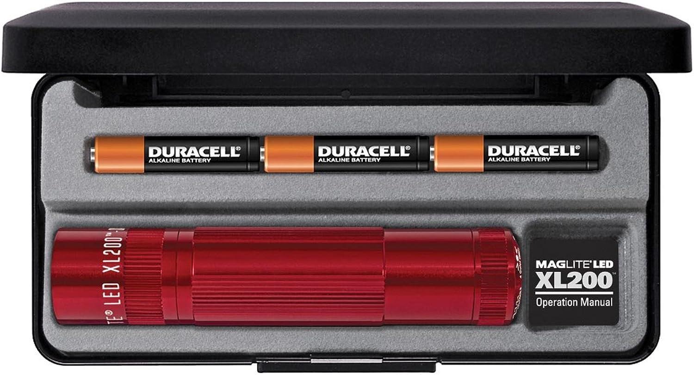 Mag-Lite LED Taschenlampe XL200, 172 Lumen, rot, rot, rot, 12 cm mit 5 Modi und Endkappenschalter, XL200-S3037 B006GFG6VK | Exquisite (mittlere) Verarbeitung  e9cf09