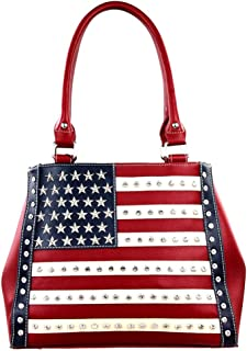 American Flag Star Studded Concealed Carry Handbag