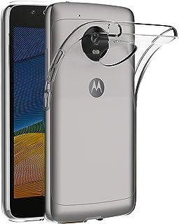 حافظة لهاتف موتورولا موتو G5 (5 بوصة) مايجين لينة TPU المطاط جل ممتص للصدمات غطاء خلفي شفاف
