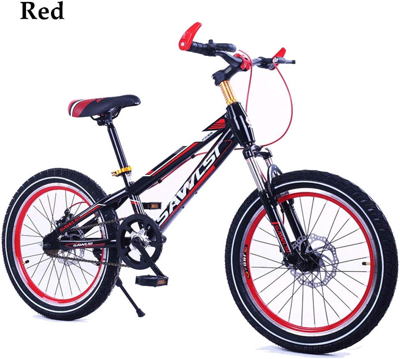 Kids Bike Unisex Wheel Mountain Bike Disc Brake,16In,18In,20In, 1 Speed,Freestyle Bike Red blueee orange Green