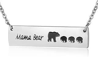 Honey Family Mama Bear Bar Necklace Gifts for Family