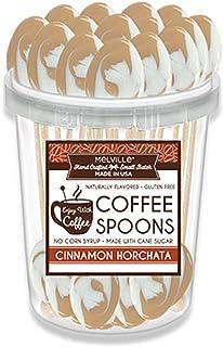 Cinnamon Horchata Flavored Hard Candy Coffee Spoons - Gourmet Lollipop Sticks - Candy Bulk - Gluten Free - 30 Pack Bucket