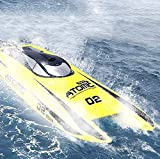 Deportes al aire libre 27.5 pulgadas Barco de velocidad grande con control remoto Motor sin escobillas profesional 65KM / H Barco de velocidad máxima 11.1V 2600mAh Juguete de remo eléctrico recarga