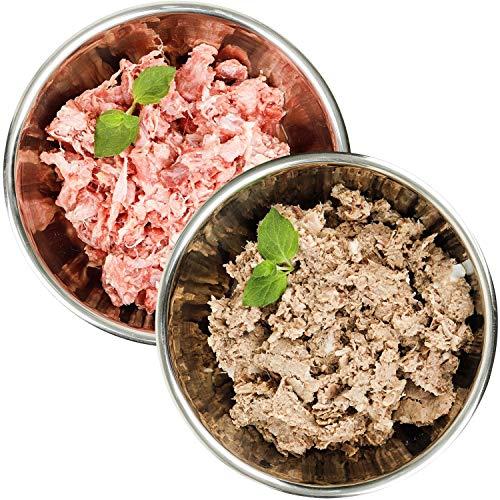 Barf-Snack artgerechtes Rohfutter - Sparpaket Ente & Geflügel-Power-Mix 28kg x 1000g Gefrierfutter für Hunde & Katzen
