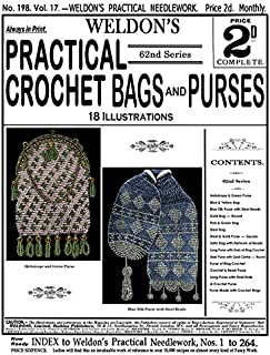 Weldon's 2D #198 c.1901 - Practical Crochet Beaded Bags and Purses