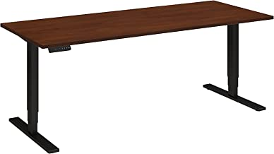 Move 80 Series 72W Height Adjustable Standing Desk in Hansen Cherry with Black Base