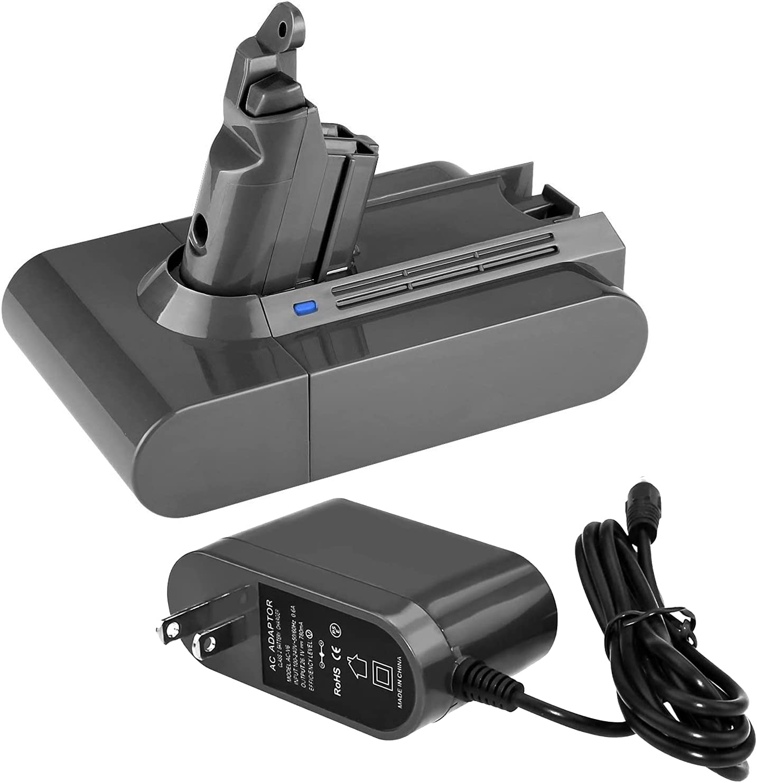 Battery 永遠の定番モデル Charger Replace for V6 V8 3.5Ah セール価格 Replacement 21.6V + B V7