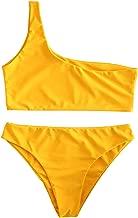 ZAFUL Womens Two Piece Swimsuits One Shoulder Sexy Low Waist Bikini Set Swimsuit