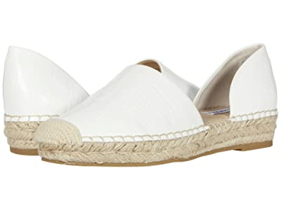 Steve Madden Leema Espadrille Flat (White Croco) Women