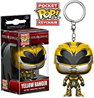Funko - Porte Clé Power Rangers Movie - Yellow Ranger Pocket Pop 4cm - 0889698123501