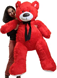 Big Plush Giant 5 Foot Red Teddy Bear, Soft Stuffed Animal Made in America