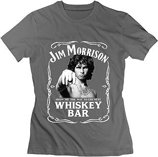 Women's Jim Morrison The Doors Show Me Next Whiskey Bar 100% Cotton Tshirts