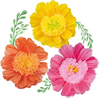 Juego de 6 flores de papel de seda de NICROLANDEE de 24
