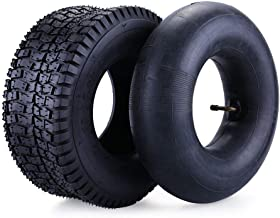 13x5.00-6 Tire & Inner Tube Set for Razor Dirt Quad and Go Kart, Dirt Bike, ATV, Yard Tractors, Lawn Mower, Wagons, Hand Trucks, Premium Replacement Tire Inner Tube with Bent Metal Valve Stem, 1 Set