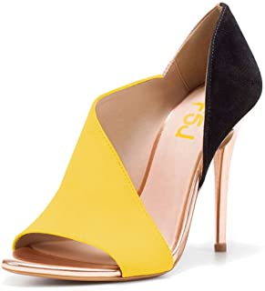 44a73e6abf5 FSJ Women Sexy Peep Toe Cutout Pumps Sandals D Orsay Stiletto Heels Party  Evening Shoes