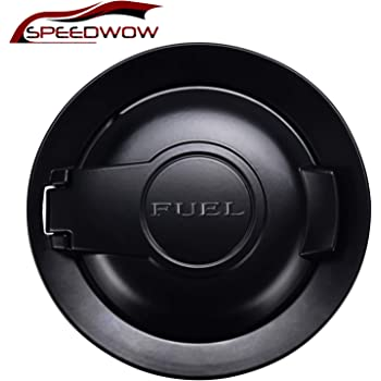 Matte Black JeCar Fuel Filler Door Aluminum Alloy Gas Cap Cover for Dodge Challenger 2015-2019