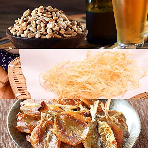 ビールにあう おつまみセット(1) バタピー さきいか 焼きあじ ビールにあう人気おつまみ・珍味シリーズ お試しセット