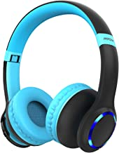 Mpow CH9 Kids Bluetooth Headphones with Microphone & LED Light, Bluetooth 5.0, 15Hours Playing Wireless Foldable Headset w...