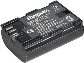 Energizer ENB-CE6 Digital Replacement Battery LP-E6 for Canon 80D, 60D, 5D Mark II, Mark III, 6D and 7D (Black)