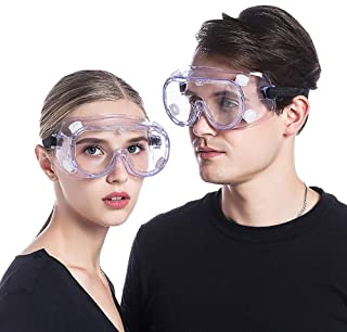 Safety Glasses Over Prescription Glasses Lab Safety Goggles Anti Fog Anti Scratch Eye Protection Glasses Chemistry Protective Eyewear For Science Lab Onion Goggles For Women Woodworking Clear Safety